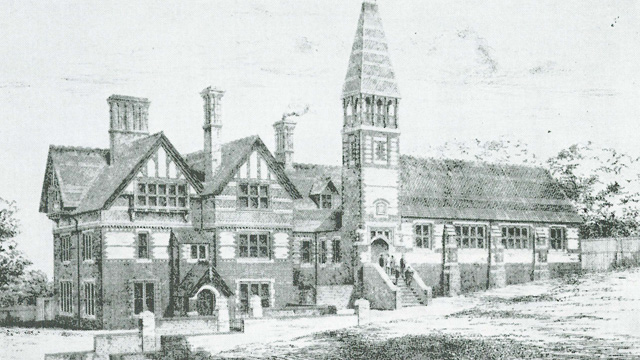 The 'new' grammar school building, 1882