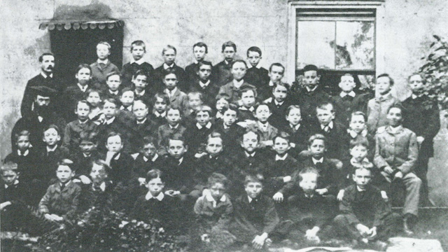 A school group, circa 1880